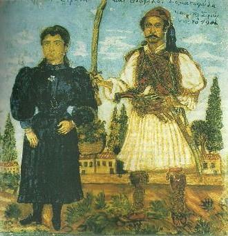 Οι άγνωστες τοιχογραφίες του τσολιά Θεόφιλου Χατζημιχαήλ
