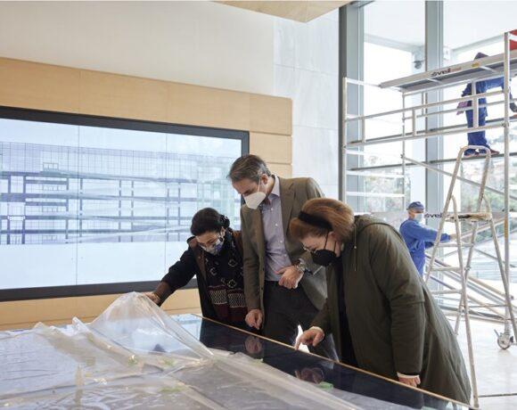 Το εντυπωσιακό ανακαινισμένο συγκρότημα της Εθνικής Πινακοθήκης επισκέφθηκε ο Κυριάκος Μητσοτάκης