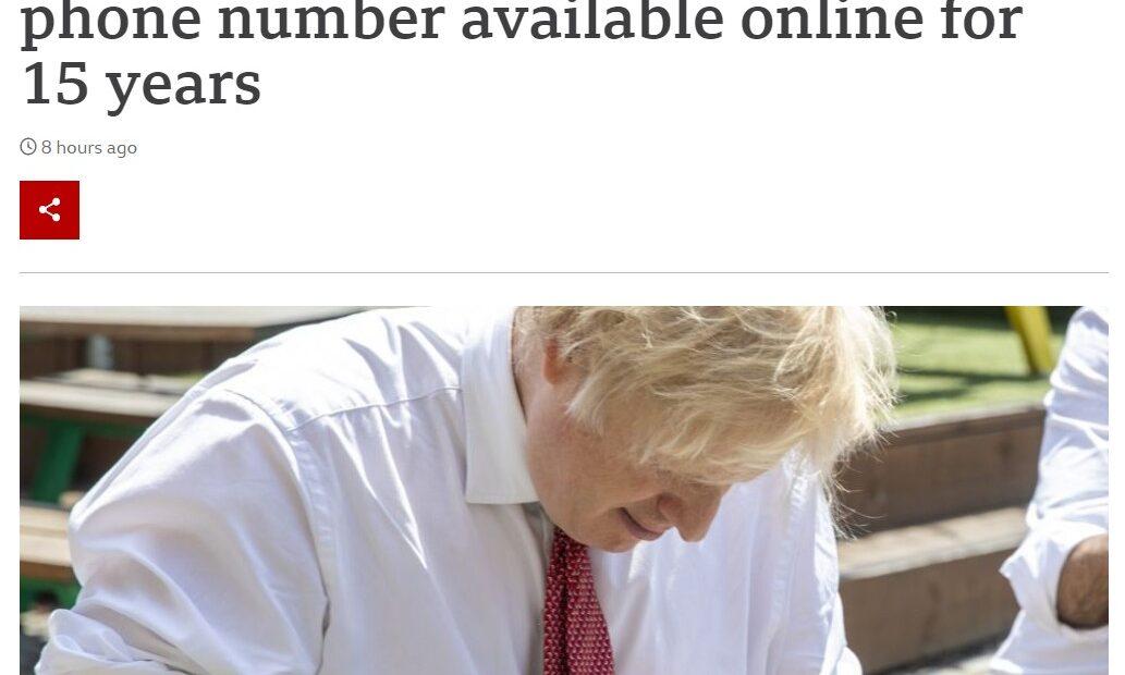 Σάλος στη Βρετανία: Προσβάσιμο στο διαδίκτυο εδώ και 15 χρόνια ο αριθμός του Μπόρις Τζόνσον