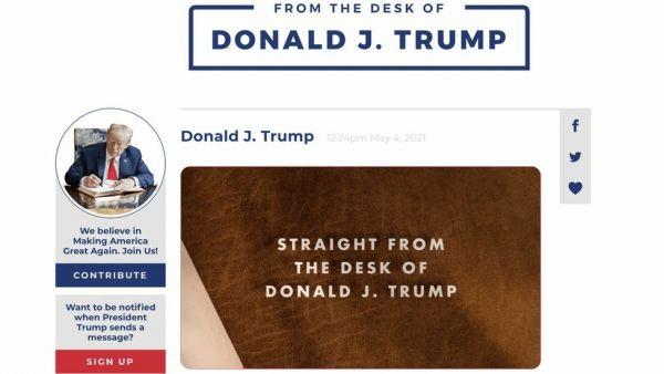 Τραμπ: Βρήκε τρόπο να κοινοποιούνται σε Facebook και Twitter τα σχόλιά του