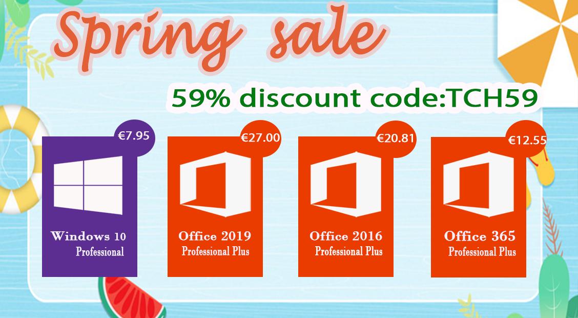 Summer Promotion: Αποκτήστε Windows 10 Pro με €7.95 και Office 2016 Pro με €20