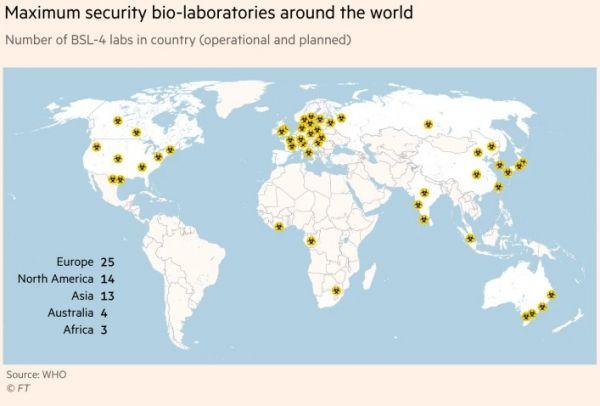 Κοροναϊός: Τα 59 εργαστήρια τύπου «Ουχάν» που προκαλούν τρόμο για πιθανές διαρροές επικίνδυνων ουσιών