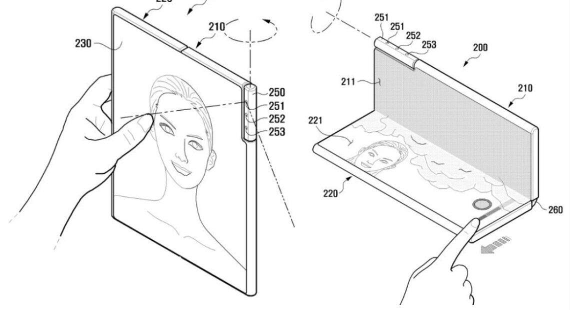 Πατέντα της Samsung για foldable με περιστρεφόμενη κάμερα