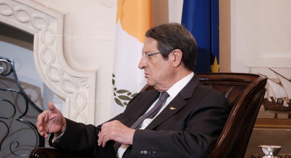 Αναστασιάδης: Ταφόπλακα στο Κυπριακό αν η Τουρκία υλοποιήσει τις απειλές της για την Αμμόχωστο