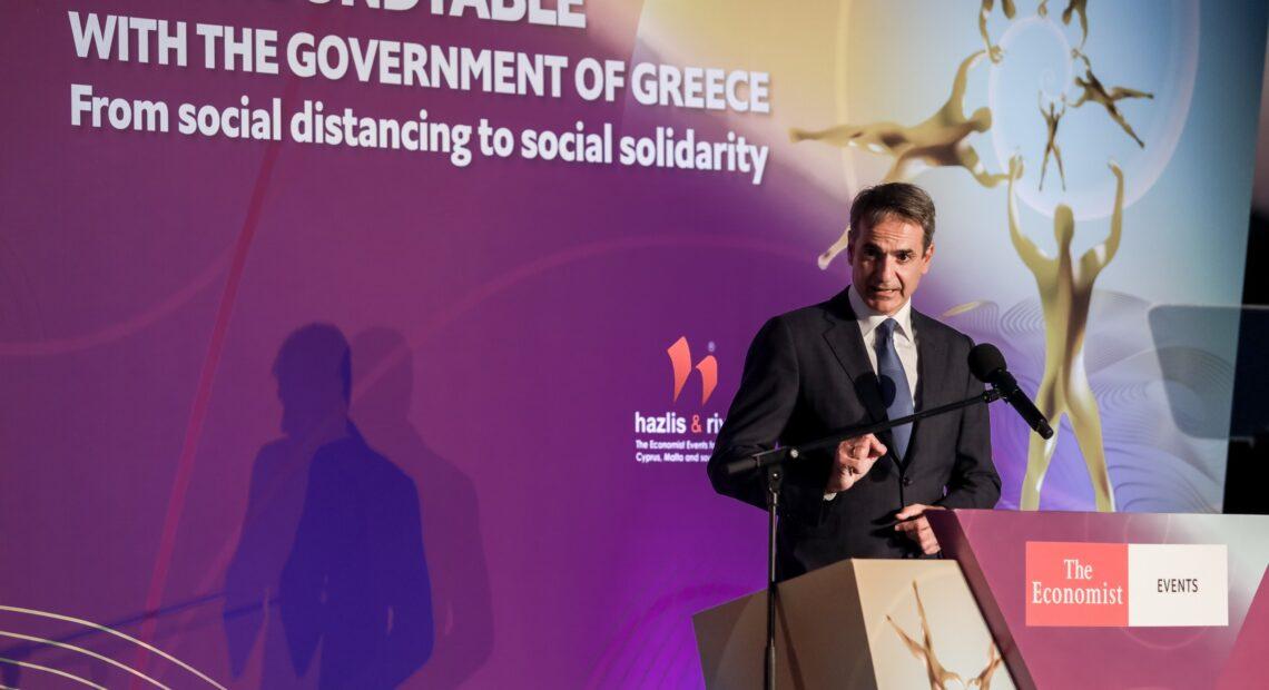 Μητσοτάκης στο Economist: Οι 4 λόγοι που μας επιτρέπουν να αισιοδοξούμε για την ελληνική οικονομία