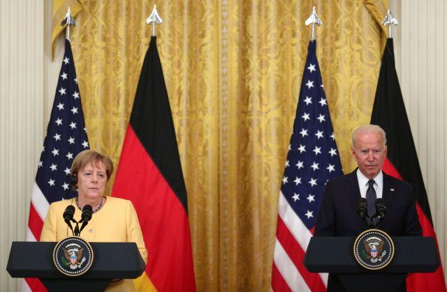 Μπάιντεν – Μέρκελ: Διαφώνησαν δημόσια για τον αγωγό Nord Stream 2