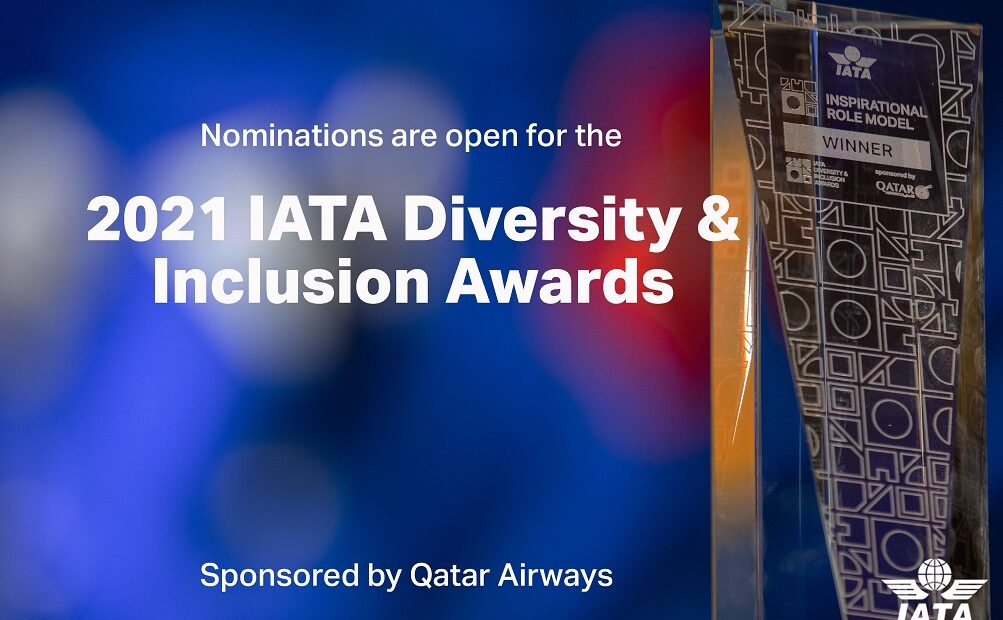 Nominations Open for 2021 IATA Diversity and Inclusion Awards