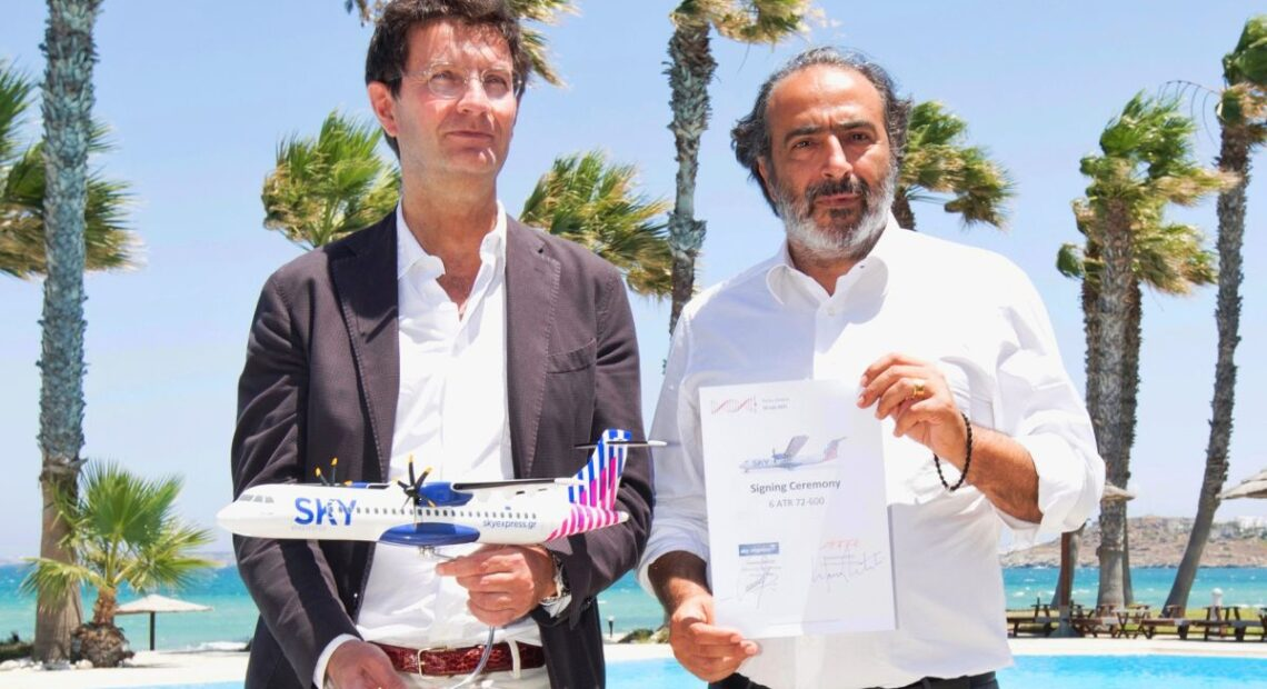 SKY express Invests €200m for Six ATR Sustainable Aircraft