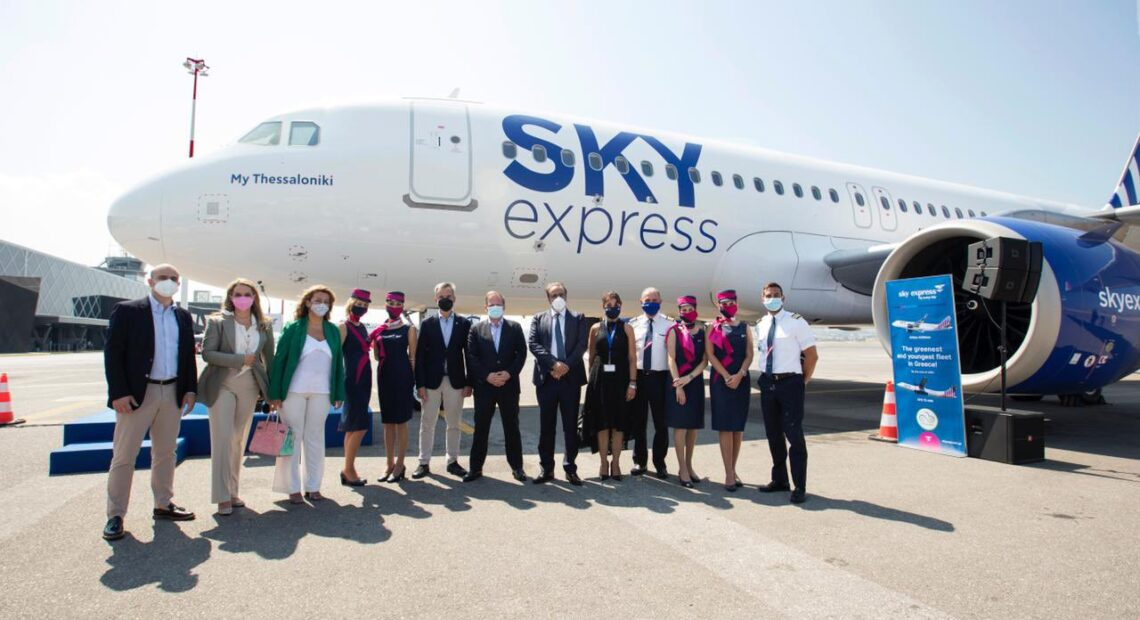 SKY express Names Airbus A320neo After Thessaloniki