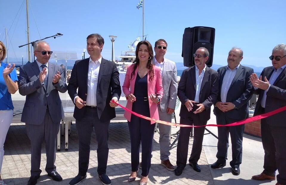 Tourism Minister Inaugurates New Marina at Benitses on Corfu