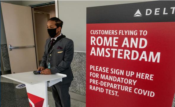 Εκμηδενίζεται ο κίνδυνος μόλυνσης με Covid-19 στις πτήσεις όταν οι επιβάτες έχουν αρνητικό τεστ
