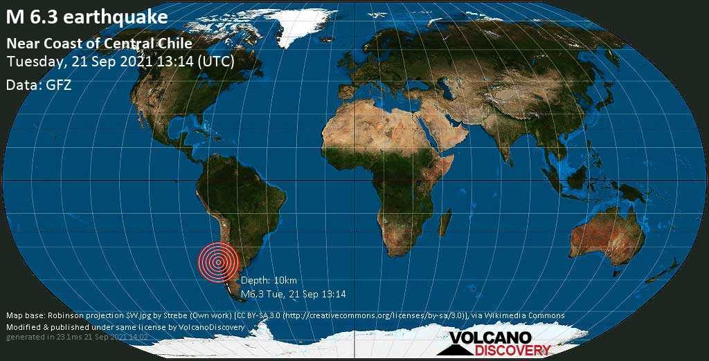 Χιλή – Ισχυρός σεισμός ταρακούνησε τη χώρα – Πάνω από 6 Ρίχτερ η πρώτη μέτρηση