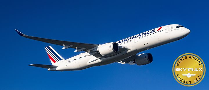 Air France Wins Four Skytrax World Airline Awards for 2021