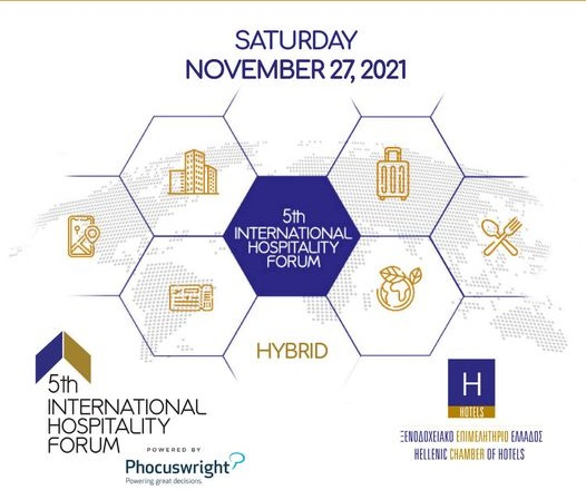 Athens' 5th Int'l Hospitality Forum to Focus on post-Covid-19 Travel Trends