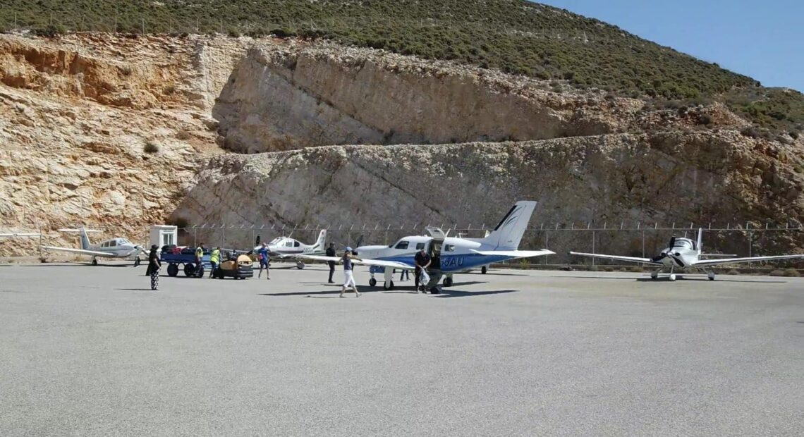 European Cirrus Rally 2021: Υποδοχή των αεροσκαφών στο Καστελόριζο