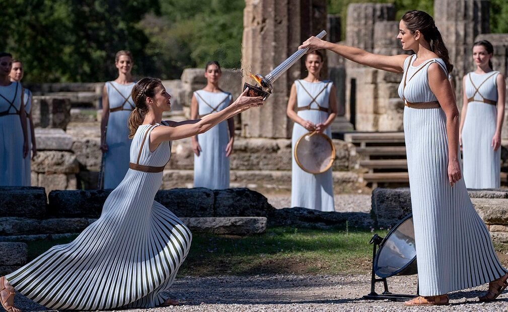 Olympic Flame for Beijing 2022 Lit in Ancient Olympia, Greece